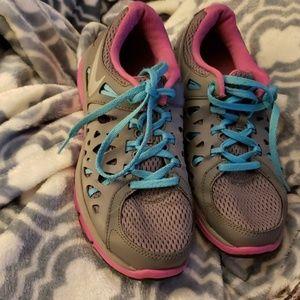 Girls Nike Tennis Shoes Pink Gray